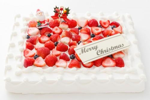 イチゴたっぷりパーティデコレーションケーキ 30×30cm クリスマスケーキ2019