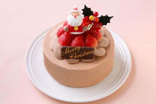 チョコ生デコレーションケーキ 5号 15cm クリスマスケーキ2020