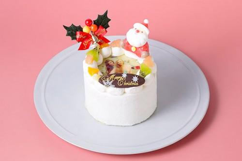 丸型写真ケーキ 3号 9cm クリスマスケーキ2019