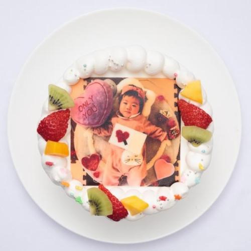 ファーストバースデーフォトケーキ 豆乳クリーム 3号 9cm