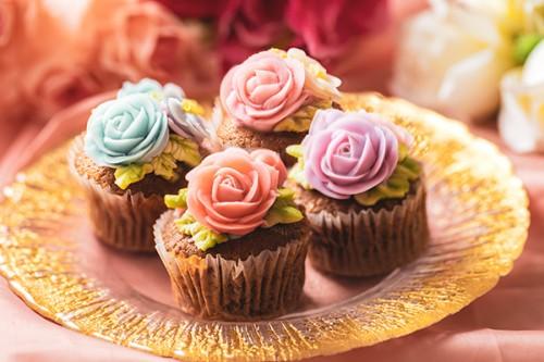 フラワーカップケーキ【4個セット】