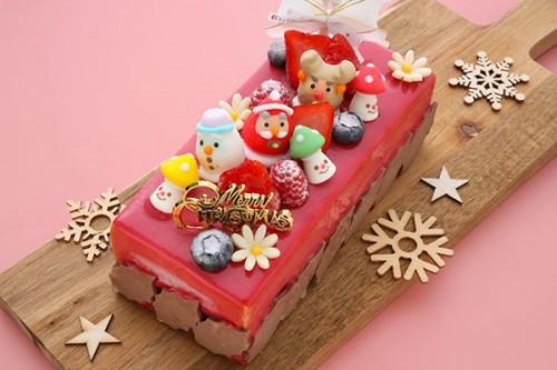 クリスマスケーキ2019 Xmasキャラメルカフェ W18cm×D8cm
