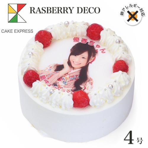卵不使用の写真ケーキ 4号 12cm cream-4-p-noegg