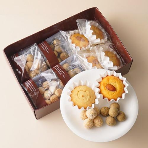 低糖質焼菓子ギフト 黒胡麻クッキー×2・チョコナッツクッキー×2・マフィン×2・アーモンドマフィン×2