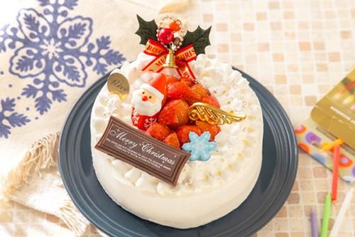 クリスマスケーキ2019 いちごのクリスマス生デコレーションケーキ 5号 15cm