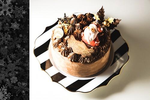 クリスマスケーキ2019 クリスマス生チョコデコレーションケーキ 4号 12cm