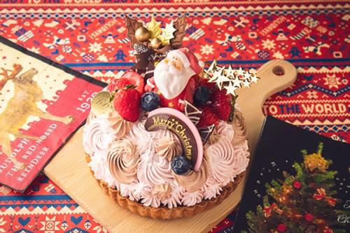 クリスマスケーキ2019 いちごと生チョコレートのタルト 5号 15cm