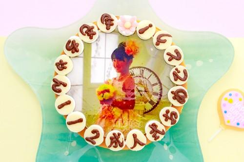 写真ケーキ チーズケーキ 4号 12cm