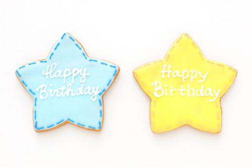 色が選べるアイシングクッキー 星 1枚