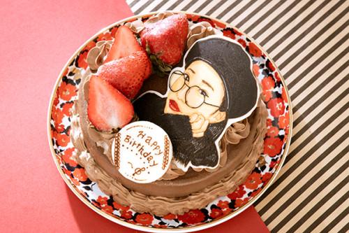 似顔絵ケーキ チョコケーキ 5号 15cm
