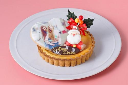 写真クッキー付き チーズタルト 4号 12cm クリスマスケーキ2019