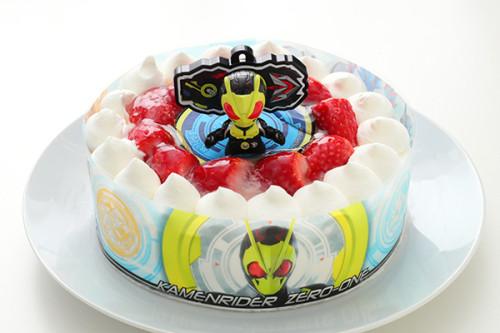 卵・乳製品・小麦粉除去可能 仮面ライダーゼロワン 生デコレーションケーキ  5号 15cm