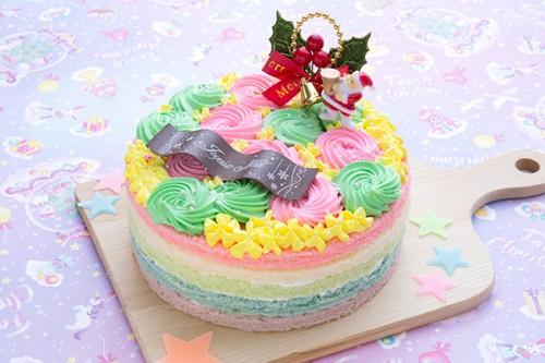 クリスマスケーキ2019  カラフルケーキ 4号 12cm
