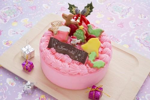 クリスマスケーキ2019 ピンクのカラフルケーキ 5号 15cm