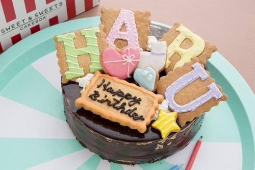 文字アイシングクッキーデコレーション チョコ 5号 15cm