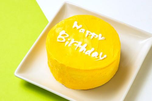 韓国ケーキ 4号 イエロー 丸のメッセージケーキ 12cm