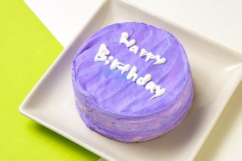 韓国ケーキ 4号 パープル 丸のメッセージケーキ 12cm