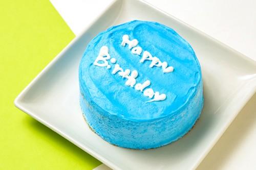 韓国ケーキ 4号 ブルー 丸のメッセージケーキ 12cm