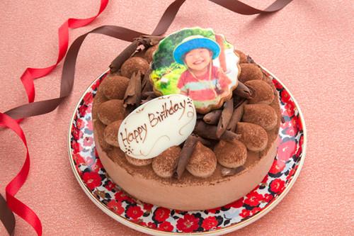 フォトクッキー付き生チョコデコレーション 4号 12cm