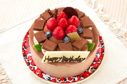 チョコクリーム デコレーションケーキ 4号 12cm