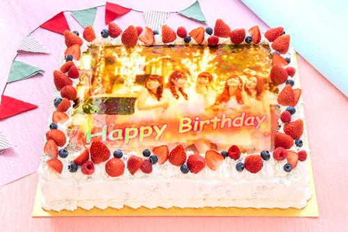 ホワイトクリーム写真ケーキ 30cm×20cm