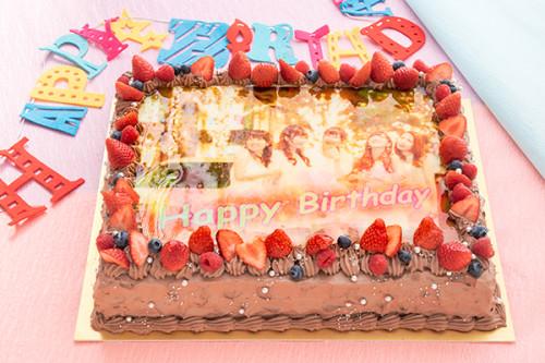 チョコレートクリーム写真ケーキ 30cm×20cm