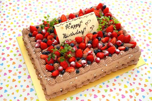 ビックサプライズ スクエアチョコケーキ 30cm×20cm