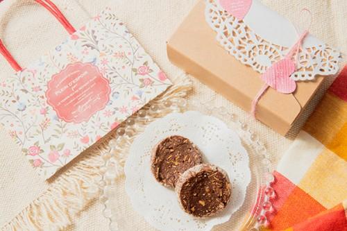 バレンタイン2020 チョコのクッキー 2枚入りx2袋セット ラッピング済