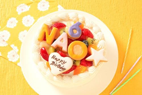色が選べる文字アイシングクッキーケーキ 生 4号 12cm