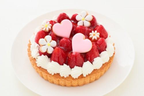 お花畑(アイシングクッキ-)の苺タルト 季節限定 4号 12cm