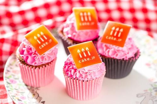 手のひらサイズの写真カップケーキ【ピンク】