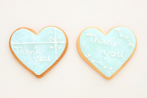 アイシングクッキー どちらか選べるTHANKYOUハート