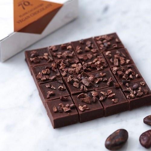 【ハイカカオ70% カカオニブ】 ヴィーガン生チョコレート ※乳製品、乳化剤、白砂糖不使用