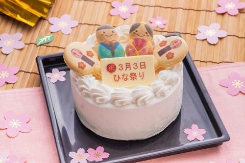 ひなまつり2020 子供用のプチクリームケーキ 4号 12cm