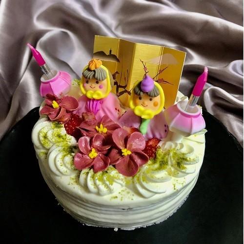 ひなまつり2020 お野菜スポンジの雛祭りケーキ 4号 12cm