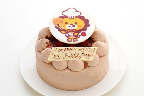 写真ケーキ チョコ生 4号 12cm