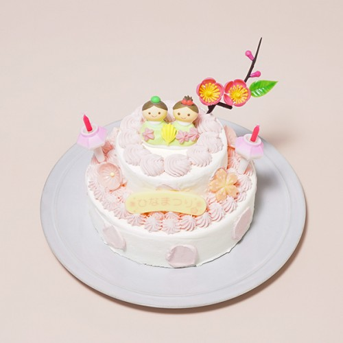 ひなまつり2020 2段苺のデコレーションひな祭りセット 3号×5号
