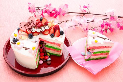 ひなまつり2020 ハッピーひな祭り!(^^)! いちごのお内裏様とお雛さまでお祝い! 5号 15cm