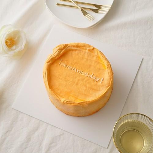 韓国ケーキ 4号 オレンジ 丸のメッセージケーキ 12cm
