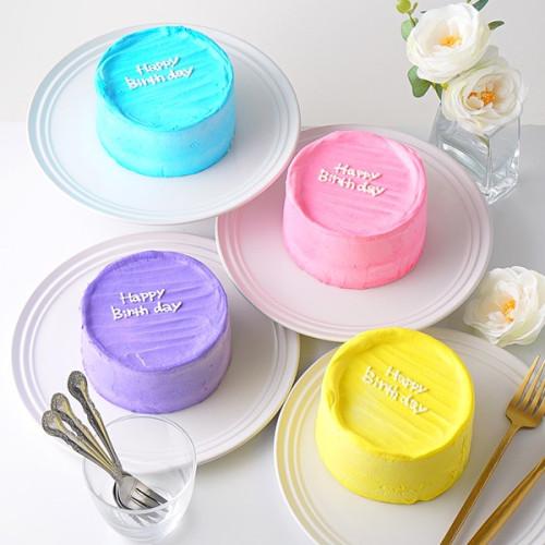 韓国ケーキ 4号 ホワイト 丸のメッセージケーキ 12cm