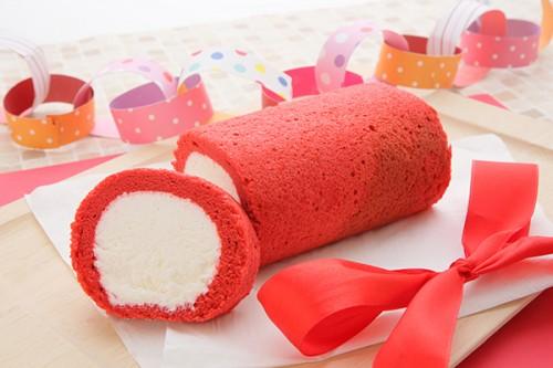 1色ロールケーキ【レッド】