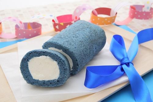 1色ロールケーキ【ブルー】