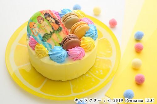 Newフォトケーキ 3号 イエロー 生クリーム 9cm
