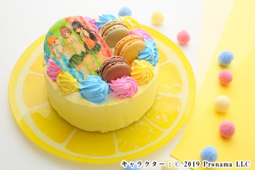 Newフォトケーキ 4号 イエロー 生クリーム 12cm