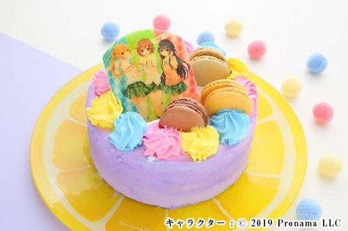 Newフォトケーキ 3号 パープル 生クリーム 9cm
