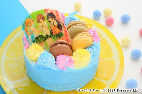 Newフォトケーキ 3号 ブルー 生クリーム 9cm