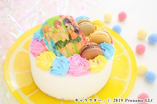 Newフォトケーキ 3号 ホワイト 生クリーム 9cm
