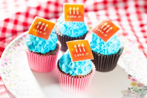 ホワイトデー2020 手のひらサイズの写真カップケーキ【ブルー】