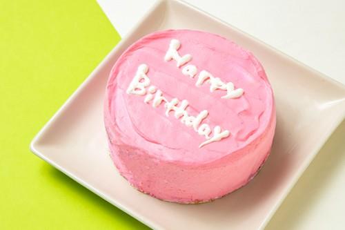ホワイトデー2020 メッセージ入りのまんまる韓国ケーキ◎【ピンク】4号 12cm