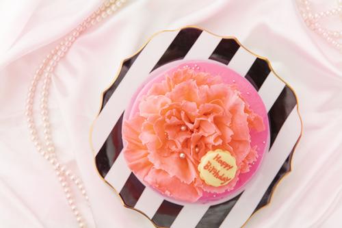 ホワイトデー2020 まるで本物!カーネーションケーキ【ピンク】4号 12cm